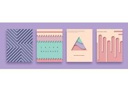 几何图形海报剪纸风海报