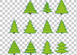 卡通圣诞树杉木冷杉PNG图片