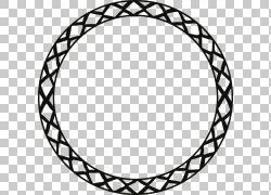 黑色内花边圆环免抠素材