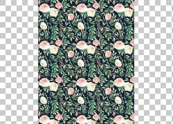 鲜花绿叶画布背景