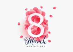 粉色花瓣三八妇女节