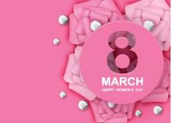 粉色温馨三八妇女节