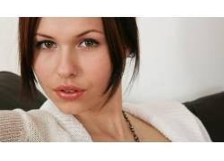 Iga Wyrwal,棕色的眼睛,黑发,嘴唇,面对,女性,女人,美女,波兰模特