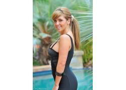 金发,胸部,棕色的眼睛,FTVGirls,微笑,女性,女人,美女,手镯68261