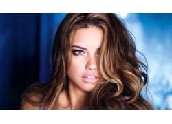 阿德里安娜利马,黑发,蓝眼睛,面对,女性,女人,美女,人物52865