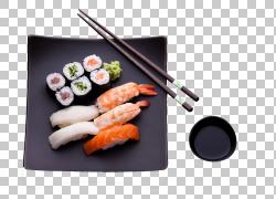大石寿司日本料理生鱼片餐厅,寿司,虾方形黑色陶瓷板PNG剪贴画食图片