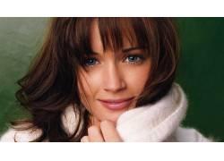黑发,蓝眼睛,毛线衣,面对,女性,女人,美女,亚历克西斯布莱德尔379