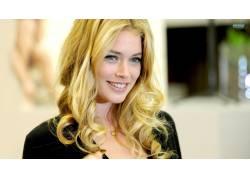 杜晨克罗斯,蓝眼睛,金发,微笑,长发,女性,女人,美女,人物64001