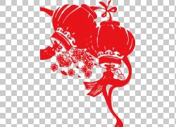 中国农历新年灯笼剪纸福传统中国节日,农历新年灯笼灯PNG剪贴画爱图片