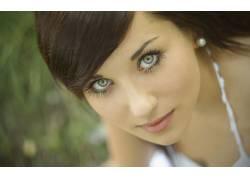 黑发,女性,女人,美女,绿眼睛33783