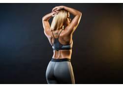 肌肉发达,黥,女性,女人,美女,枯瘦,健身人物,行使,锻炼,金发,瑜珈