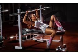 健身房,运动,女性,女人,美女,举重,健身人物,人物39764