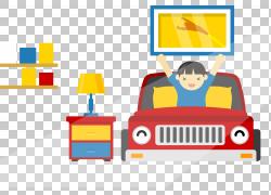 卧室插图,卡通车床PNG剪贴画卡通人物,车祸,家具,儿童,床垫,抽屉,图片