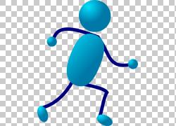 简笔画跑步,移动跑步的PNG剪贴画蓝色,运行,图形艺术,动画,棒图,