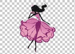 朦胧的女孩PNG剪贴画紫色,摄影,版权,时尚插画,花卉,虚构人物,卡图片