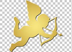 丘比特射箭,金色简单丘比特PNG剪贴画爱,哺乳动物,金色框架,简单,图片