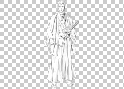 日本Bushi漫画漫画,武士拉材料PNG剪贴画白色,免费标志设计模板,图片