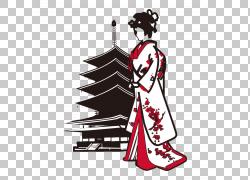 日本建筑卡通插图,日本文化,日本PNG剪贴画文化,日本料理,虚构人图片
