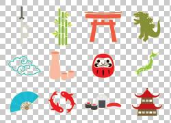 日本文化图标,卡通日本文化图标Dharma PNG剪贴画卡通人物,白色,图片