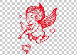 情人节心脏例证,丘比特PNG clipart爱,框架,文本,婚礼,心,弓,虚构图片