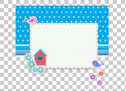 鸟框架,卡通元素PNG剪贴画卡通人物,蓝色,文本,矩形,摄影,纺织,徽图片