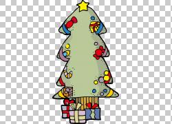 平安夜圣诞树糖果手杖,圣诞节卡通PNG剪贴画卡通人物,节日元素,圣图片
