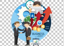 商业业务,人物业务信息地图材料编辑,PNG剪贴画信息图表,卡通人物图片
