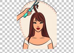 梳美容院美容师,女人PNG剪贴画头发配件,脸,帽子,人,头,时尚插画,图片