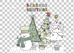 圣诞老人圣诞卡圣诞树圣诞节装饰,圣诞节动画片以图例解释者材料P图片