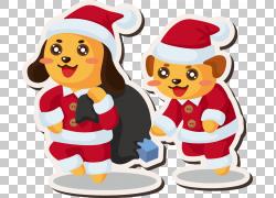 圣诞老人圣诞节动画片,圣诞节题材元素材料PNG clipart食品,摄影,图片