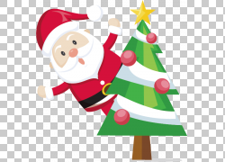 圣诞老人圣诞节装饰礼物驯鹿,圣诞老人PNG clipart假期,小精灵,虚图片