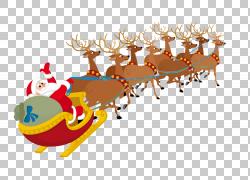 圣诞老人村圣诞老人Clauss驯鹿,圣诞老人雪橇麋PNG剪贴画假期,雪图片