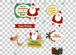 圣诞老人皇家圣诞节消息圣诞节装饰品介绍,6俏皮的圣诞老人标记材图片