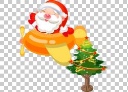 圣诞老人飞机圣诞节礼物象,圣诞节PNG clipart节日元素,卡车,圣诞图片