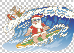 圣诞老人鲁道夫驯鹿圣诞树例证,圣诞老人冲浪的PNG clipart摄影,图片