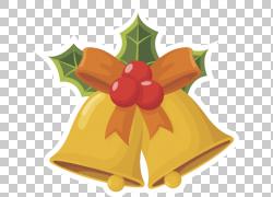 圣诞音乐圣诞礼物,卡通金铃装饰PNG剪贴画卡通人物,金色框架,食品图片