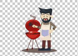 烧烤Asado烤鹅,卡通商业烧烤服务员PNG剪贴画卡通人物,业务,图片