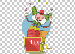 生日礼物卡通海报,马戏团小丑PNG剪贴画杂项,食品,海报,小丑帽子,图片