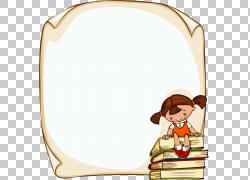 学生儿童框架,儿童教育消息墙,书和女孩插图PNG剪贴画矩形,人,墙图片