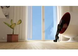 靴子,室内,植物,房间,腿,3D,人物,女性女人,美女,模特115967图片