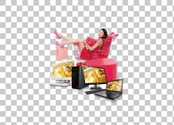 海报购物车超市消费者,促销元素PNG剪贴画家具,时尚女孩,零售,时图片