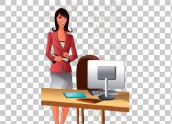 动画片例证,女商人总统PNG clipart商业女性,家具,摄影,人,计算机图片