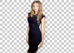鸡尾酒礼服小黑裙礼服袖子,外国女人PNG剪贴画时尚,鸡尾酒,黑色,图片
