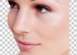皮肤面部面部年轻化美容,女人面部PNG剪贴画化妆品,人,唇,眼,手术图片
