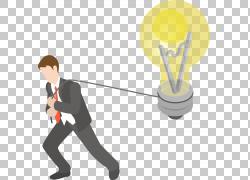 轻商业绘图,商务人士拉灯泡PNG剪贴画业务女人,人,业务,公共图片