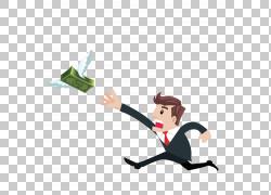 钱商业金融,商人追钱PNG剪贴画模板,业务女人,手,业务,人,名图片