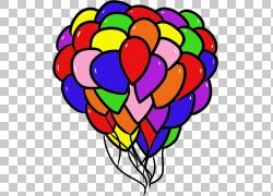 气球生日礼物希望Bloons塔防,气球PNG剪贴画希望,心,气球,花,花瓣图片