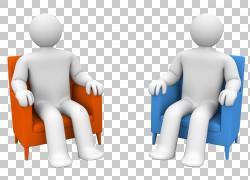 商业管理服务公司组织,蓝色3D商业恶棍PPT材料PNG剪贴画业务女人,图片