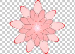 粉红色的花朵,大花卉的PNG剪贴画插花,对称,花,大丽花,桃,花瓣,粉图片