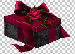 盒礼品蔷薇科长方形,红色和黑色3D礼物与玫瑰,红色和黑色礼品盒PN图片